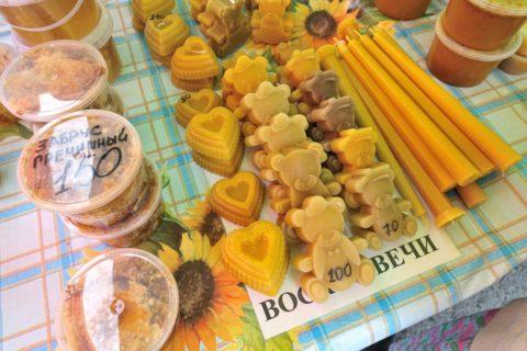 vladivostok-market-honey/クマのハチミツキャンドル
