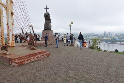 vladivostok-view-spot/展望台の広場