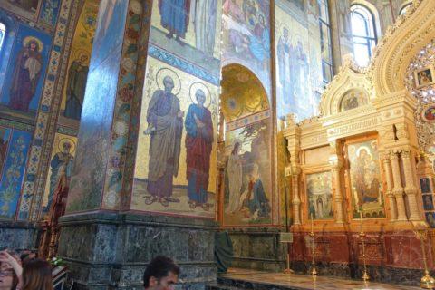 血の上の救世主教会/聖人の絵