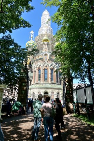 公園から臨む血の上の救世主教会