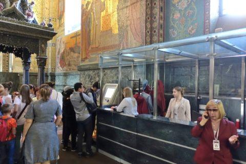 血の上の救世主教会オーディオガイドカウンター