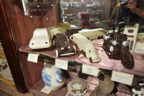 chocolate-museum-sankt-petersburg/車のチョコ