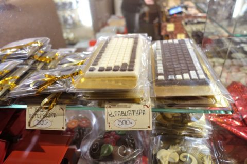 chocolate-museum-sankt-petersburg/キーボードのチョコ