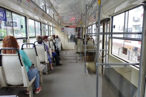 irkutsk-tram/車内のシート