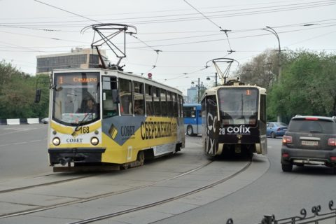 irkutsk-tram・白と黒