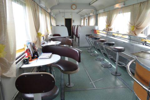 シベリア鉄道のカフェ車両