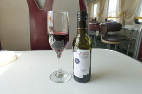 シベリア鉄道のグラスワイン