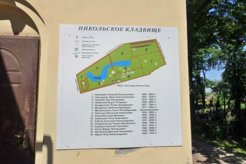 Alexander-Nevsky-Lavra/ニコラス墓地の案内図