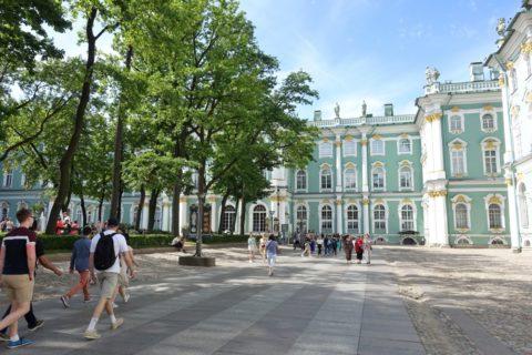 St-Petersburg-Hermitage-museum/中庭