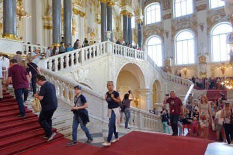 St-Petersburg-Hermitage-museum/大階段