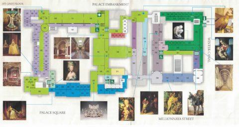St-Petersburg-Hermitage-museum/ファーストフロアMAP