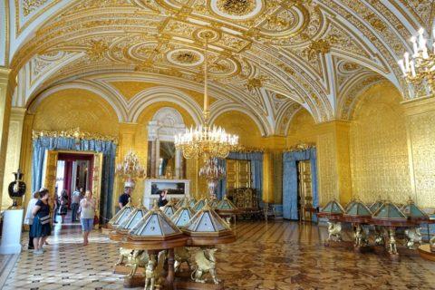 St-Petersburg-Hermitage-museum/黄金の客間