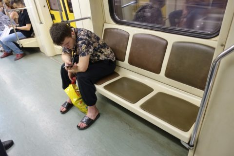 moscow-metro/ベンチ/車内