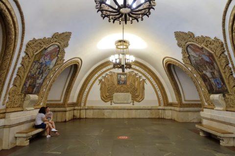 moscow-metro/駅のインテリア