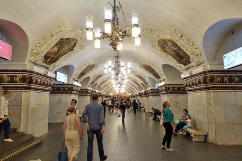 moscow-metro/キエフスカヤ駅ホーム