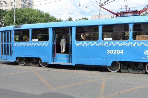 moscow-tram/乗車