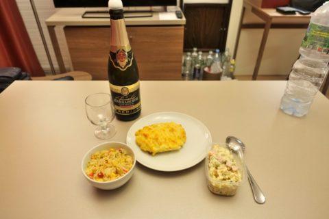 Yevropeyskiy/惣菜で夕食