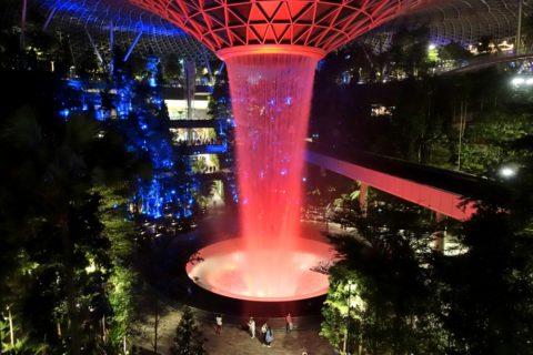 singapore-airport/Jewelライトアップ