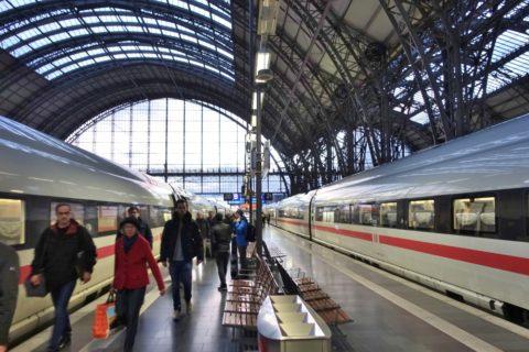 ICE-paris-frankfurt/フランクフルト中央駅