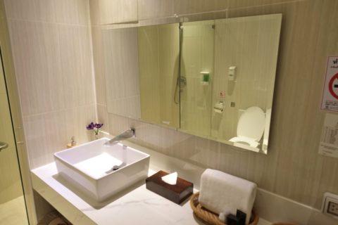 MIRACLE-First-Class-Lounge-D/シャワールームの洗面台