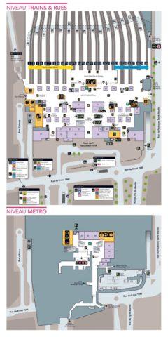 パリ東駅MAP