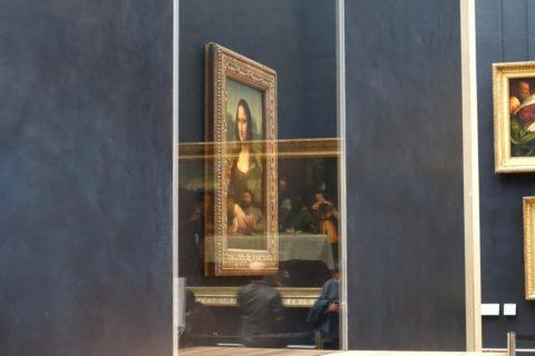 musee-du-louvre/モナリザの防弾ガラス