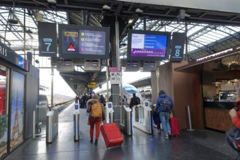 paris-est/列車ホーム