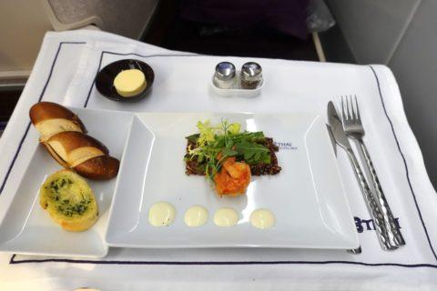 thai-airways-businessclass/海老とキヌアのサラダ