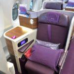 タイ国際航空ビジネスクラス搭乗記!A350-900シート&アメニティ
