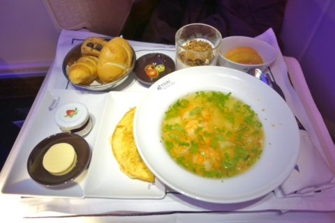 thai-airways-businessclass/朝食