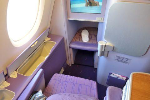 thaiairways-a380-businessclass/足元スペース