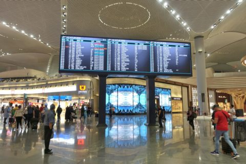 Istanbul-New-Airport/電光掲示板