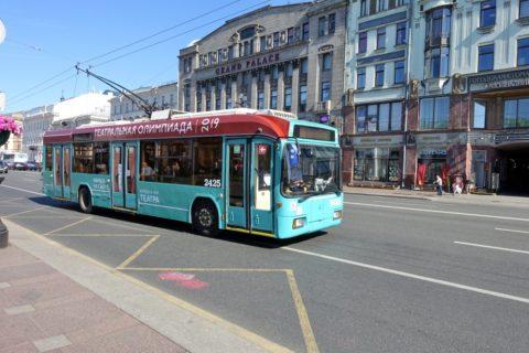 sankt-petersburg/トロリーバス