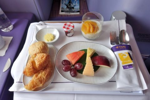 thaiairways-a380-businessclass/前菜のプレート