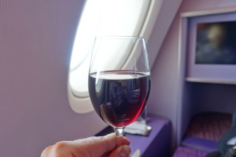 thaiairways-a380-businessclass/赤ワイン