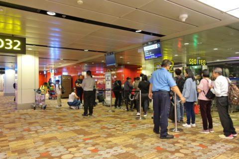 チャンギ空港搭乗ゲート