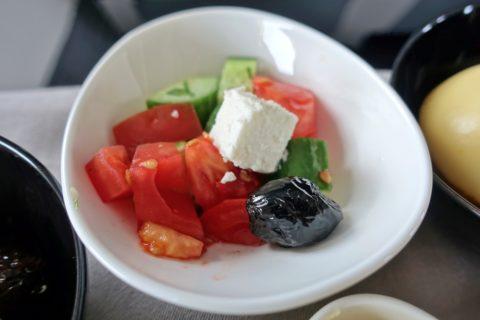 turkishairlines-b737-900-businessclass/野菜サラダ
