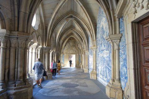 Catedral-do-Porto/アズレージョのある回廊