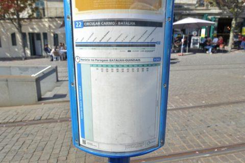 Porto-Funicular/路面電車の時刻表