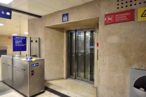 lisbon-metro/エレベーター