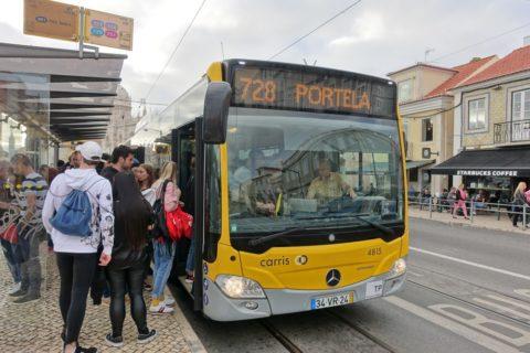 リスボンのバス