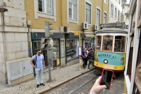 lisbon-tram・窓からの眺め