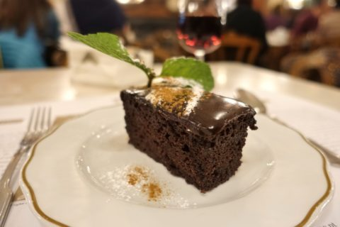 majestic-cafe-porto/チョコレートケーキ
