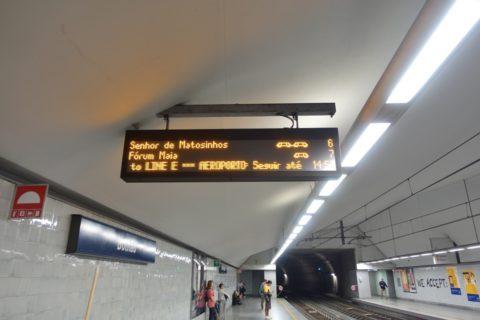 porto-metro/電光掲示板