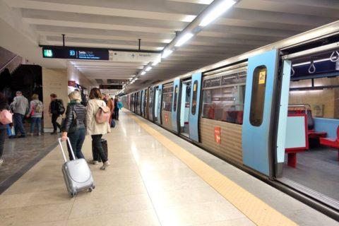 lisbon-airport/地下鉄駅ホーム