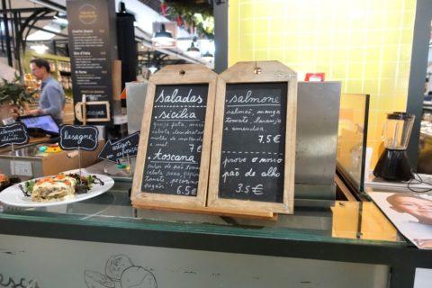 mercado-de-campo-de-ourique/ポルトガル語のメニュー