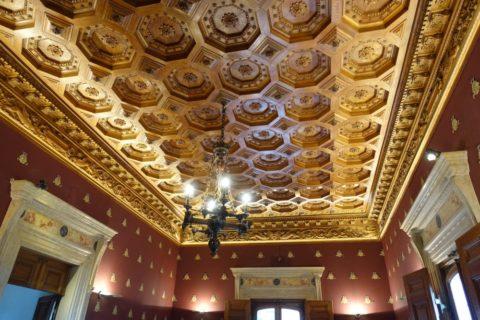 quinta-da-regaleira/博物館の天井