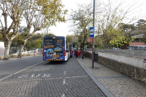 シントラ434のバス停