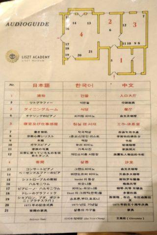 リスト記念館フロアマップ