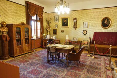 リスト記念館の寝室